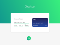 Material-Inspired Checkout Page