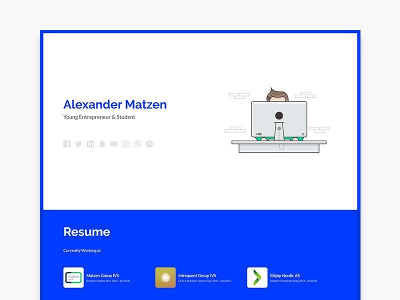 Personal Website 2018 resume personal website