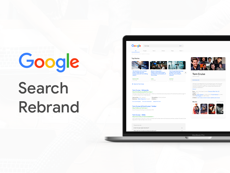 Google Search Redesign 2018 application internet search google