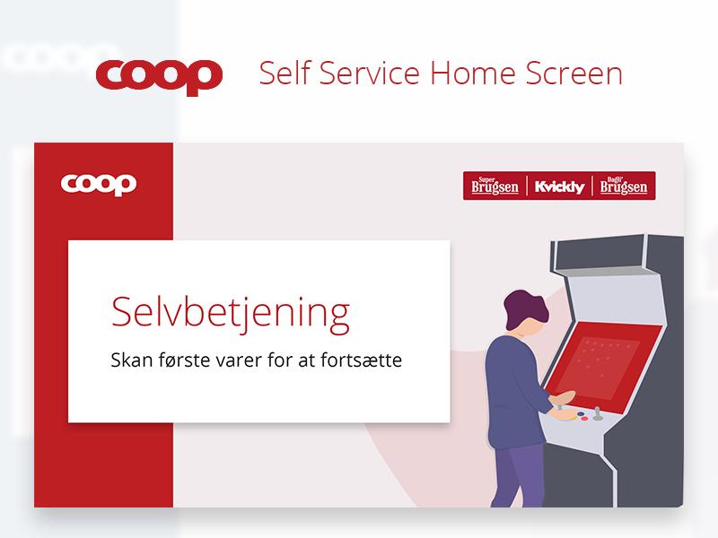 Coop Denmark // Self-Service Machine Home Screen Concept screen home self-checkout self-service machine retail denmark coop