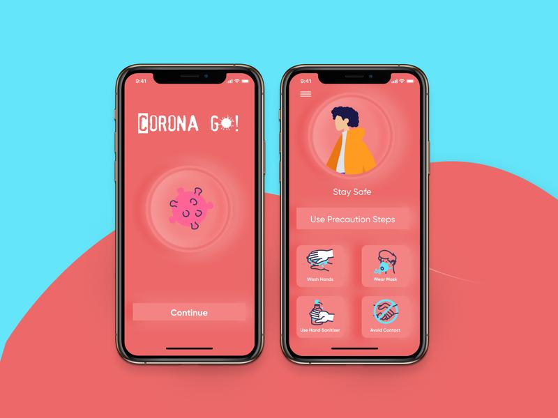 Corona Go idea app idea mobile app design healthcare corona app ux ui design