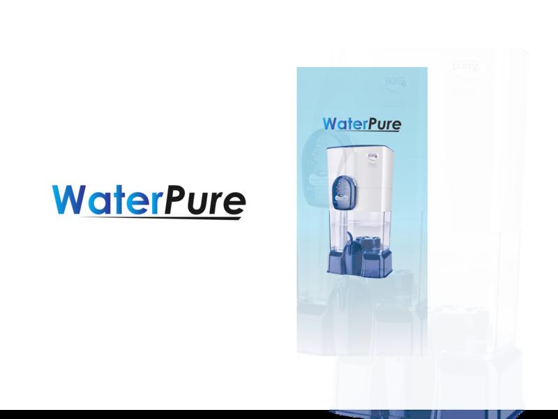 WaterPure icon typography vector uidesign ux ui water mobile app design design app
