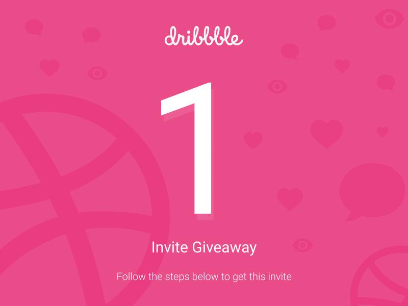 Dribbble Invite Giveaway dribbble vector design invite giveaway illustraion dribbble invite giveaway dribbble invitation dribbble invite branding design branding artwork