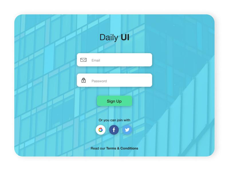 Daily UI - Login Screen design ui design login page login screen daily ui dailyui web design login webdesign