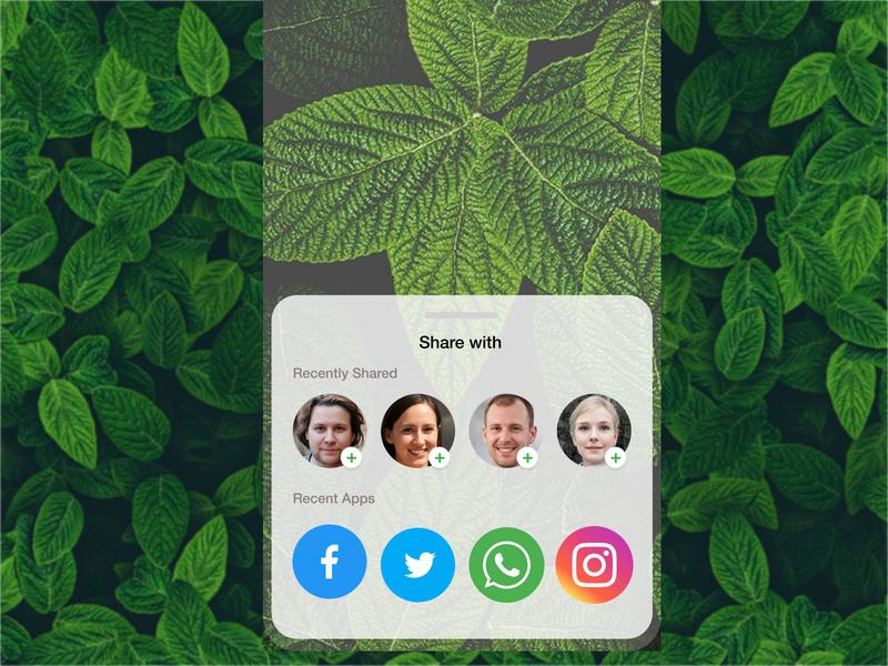 Daily UI - Social Share ios mobile app idea logo vector idea mobile app design ux dailyui app ui design