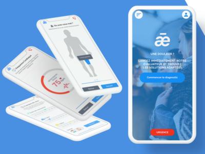 Health ux ui mobile medical iphone ios interface hospital healthcare health doctor app