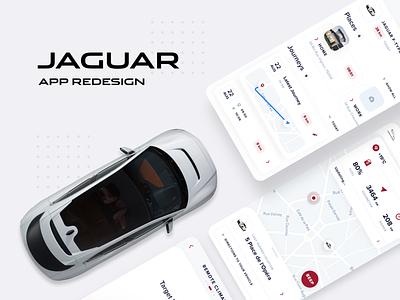 Jaguar App Redesign (different view+icon) uiuxdesign uiuxagency uiux mobile design interfacedesign design app design 3d icon app interface ui ux