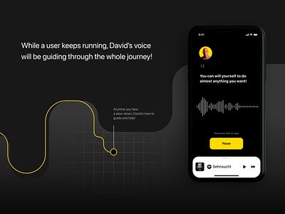 Running app - detailed look running man run ui runner running app runapp app interface fitness app interfacedesign ui mobile design app designer uiux app design ui ux