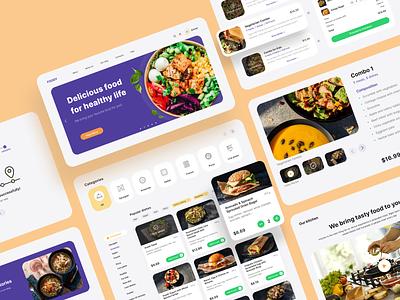 E-commerce website for Foody food menu digital design agency digital designer digital design webdesign web design company web designer web design agency web design ui ux uiuxdesign uiux food delivery ecommerce design ecommerce food