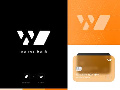E-wallet Walrus Bank logo black logo orange logo digital branding branding design branding brand digital bank digital banking digitaldesigner digitaldesign credit card creditcard bank card logo logo design logodesign bank app banking app bank ewallet