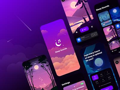 Sleep Sounds app design icon iconsets logo design logodesign iconset icons sounds sleeping sleep app logo design ui app designer interfacedesign uiux mobile design app interface app design uiuxdesign ui ux