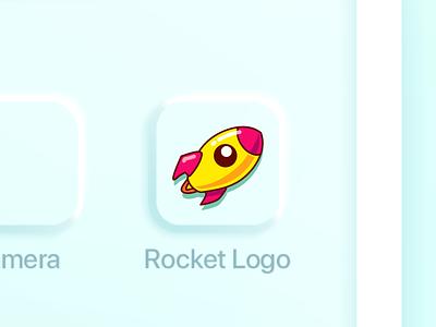 rocket logo app icon concept app logo icon cartoon illustration vector