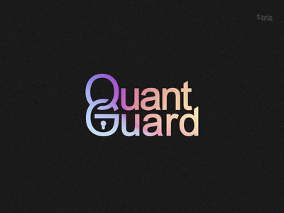 QuantGuard logo typography branding logo design vector