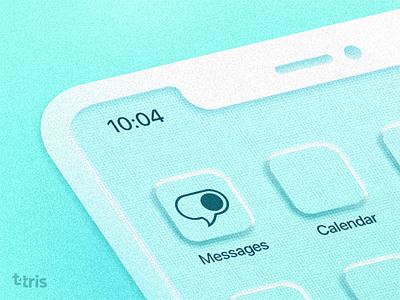 messaging app logo concept neomorphic iphone icon logo vector