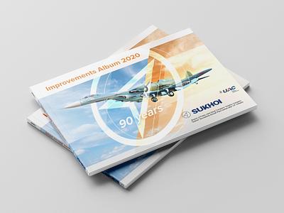 Sukhoi Album 2020 Cover cover design cover sukhoi print design design booklet brochure presentation album perfect bind collage illustration