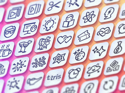 various icons icon vector
