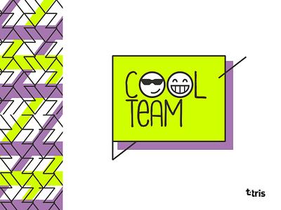 cool team logo pattern branding logo vector