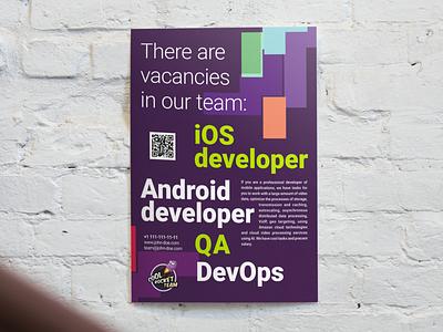job board poster typography print design vacancy careers job board job poster vector