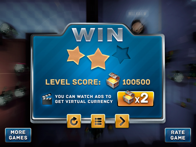 winning screen concept for casual game casual game game ui game victory win design ui skeuomorph vector photoshop