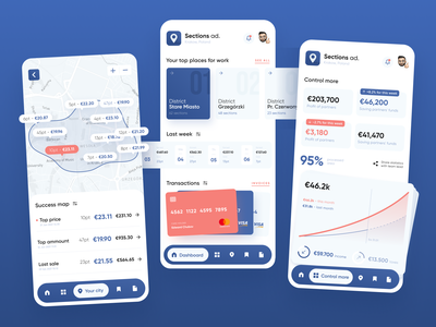 Sections ad. – Mobile app dashboard cards map uiux uidesign ui  ux mobile design mobile app design app dashboard dashboard design dashboard app dashboard ui mobile ui ui daily ui ui design clean ui application app design mobile app