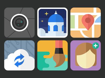 Flat icon flat momo icon