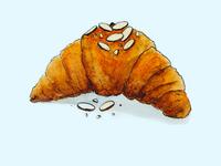 Croissant Watercolor