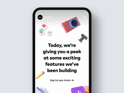 First look at Pitch Instagram Story 3d c4d marketing after effects social media story instagram pitch