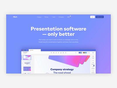Pitch Product Tour presentation animation product tour features website design pitch