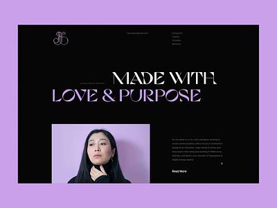 New portfolio website LIVE! pitch typography semplice website portfolio