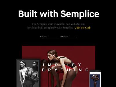 Brand New Semplice Showcase