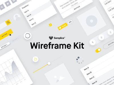 Semplice Wireframe Kit ui kit wireframe kit wireframe semplice