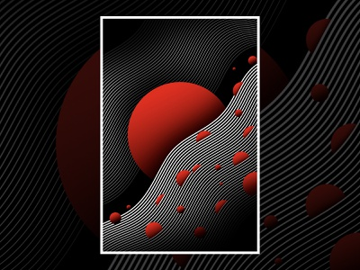 Warped Universe Poster poster illustration abstract semplice
