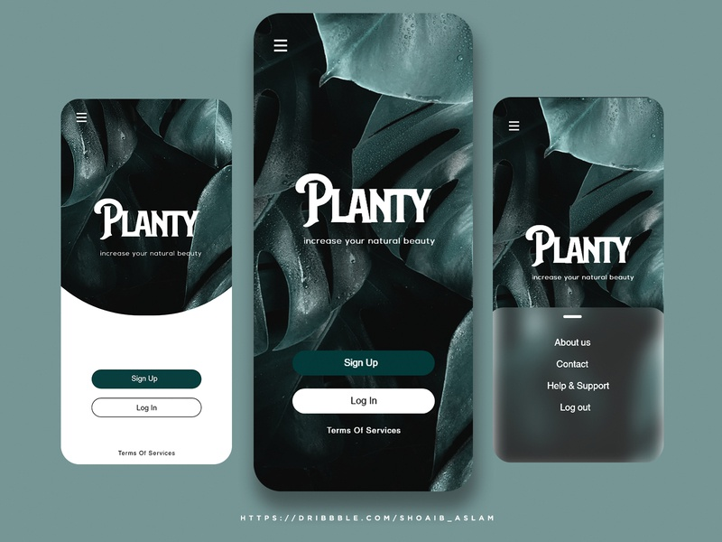 Planty UX & UI APP Design. flat typography logo ui branding illustration socialmedia design socialmediapost brand identity