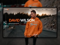 UI Design Of Portfolio. vector ui web socialmedia flat design typography socialmediapost brand identity