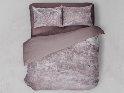 Fictional Topography (1) home decor home pink maroon ink design painting bedding mockup textile design surface design
