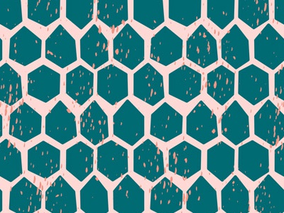 Speckled Honeycomb repeat honeycomb paint splatter speckle hexagon surface design pattern