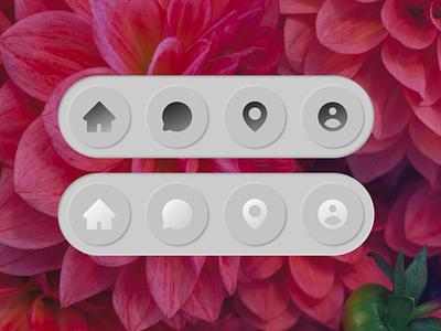 Neumorphism figma buttons icons ui neumorphism design