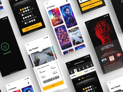 Movie Ticket App app ios mobile uidesign ux theater movie minimal ui design
