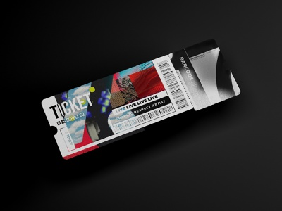 Ticket Design typography type art designers paper design art ticket app barcode gray black ticketing designer designs minimal illustration tickets ticket design