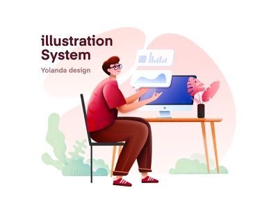Illustration System Design web design pink and blue graphic design cycling drawing uxdesign app people illustration system visual style guide illustration