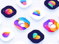 color icon design, lovely logo