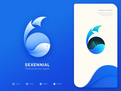 logo(icon)design_six sixty ui fish number 6 hiwow android color icons gradient landing page pattern art website design ios app app store visual style guide logo mark symbol icon graphic branding agency