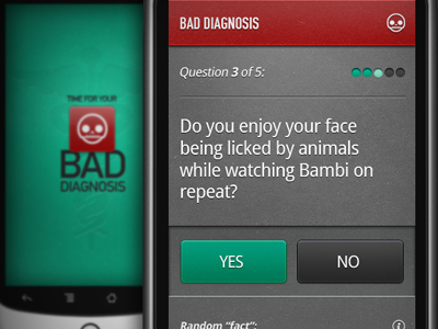 Bad Diagnosis android ui buttons mobile geomicons design ui design