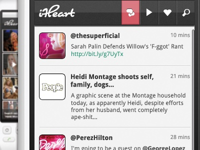 iHeart ui android phone mobile