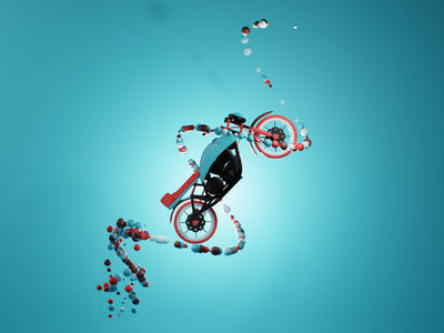 Bike illustration design 3d art 3dgraphics 3dillustration illustration blender3d blender 3d