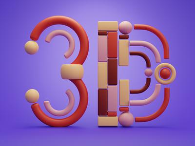 Alphabet illustration icon typogaphy 3d illustration 3d design design illustration 3d