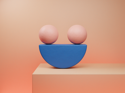 Smile. smile blender simple design simple minimal abstract 3d abstract art abstract design abstract 3d design design 3d art 3d illustration illustration 3d