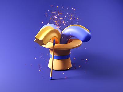 Magic✨ simple magic illustration magic blender 3d art low poly design 3d design 3d illustration illustration 3d