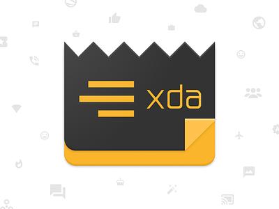 XDA Feed Icon Design material design icon