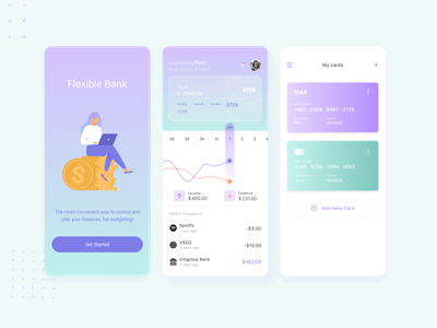 Finance-Mobile App ui app design